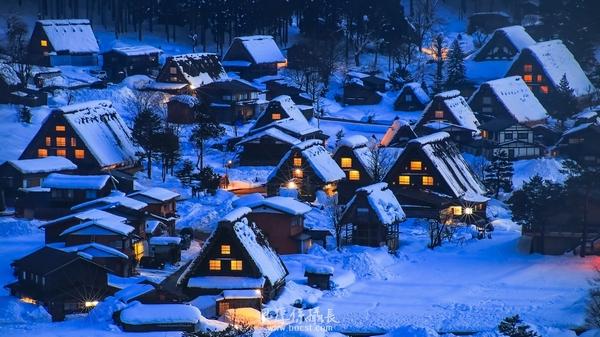 【住合掌造*賞冬童話*雪夜燈祭】 特寫美村