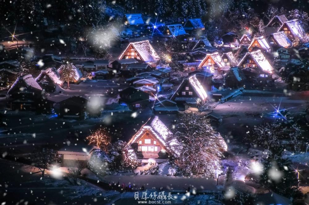 【區點燈】冬天合掌村點燈*宿泊合掌造民宿之旅
